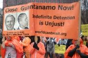 Protesters in Washington, D.C. demand the closing of the Guantanamo Bay military prison.