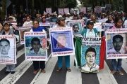 Ayotzinapa students and supporters lead a demonstration on Sept. 26, 2015 in Mexico City to commemorate one year since their disappearance.