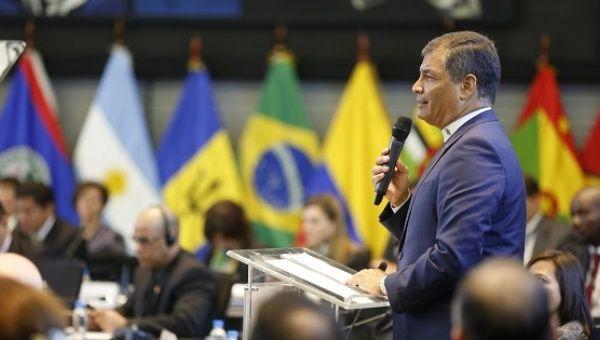 Image result for XXV latin american summit Rafael Correa