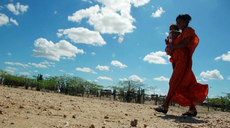 Deben caminar varios kilómetros en busca de agua.