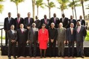 Caricom heads of state at their last summit in Barbados, July 2015.