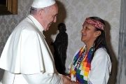 Milagro Sala visited Pope Francis in the Vatican in 2014.