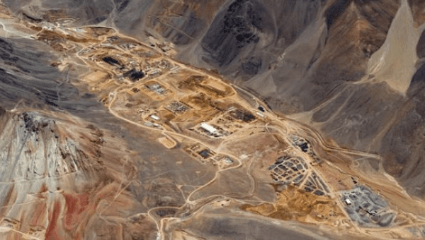 A gold processing plant under construction in Argentina, at Barrick Gold