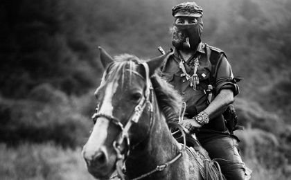 EZLN Subcomandante Marcos, now known as Galeano, in Chiapas in 1996.