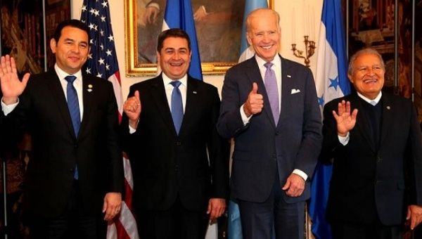 Image result for The Vice President met with the Presidents of El Salvador, Guatemala, and Honduras