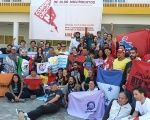 Participants of the Continental Meeting of Communication of ALBA Social Movements met in Caracas, Venezuela, Feb. 28, 2016.