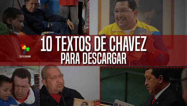 teleSUR te invita a leer y descargar 10 textos que reflejan el pensamiento del líder de la Revolución Bolivariana Hugo Chávez.