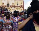 Indigenous Zapatista women take part in protest in the state of Chiapas in this undated photo.