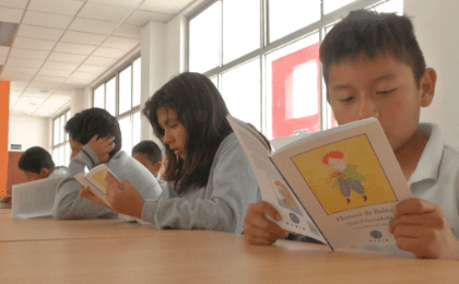 Spanish and the indigenous language of the region are incorporated in the curriculum