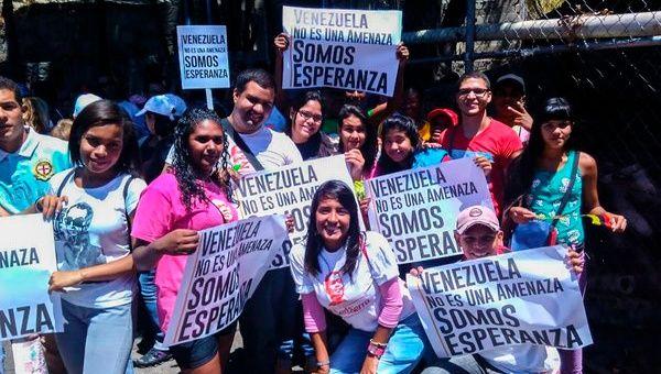 Venezolanos en las calles contra el decreto de Obama.
