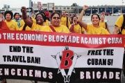 Venceremos Brigadistas in the U.S. Call for an End to the U.S. Blockade Against Cuba.