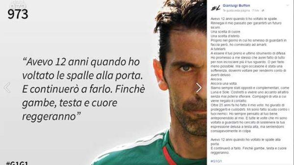Gianluigi Buffon Le Dedica Poema A La Portería Noticias
