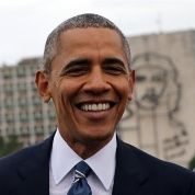 Barack Obama en la Plaza de la Revolución de La Habana.