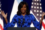 U.S. first lady Michelle Obama delivers speech in Buenos Aires on Wednesday.