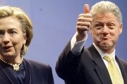 Bill Clinton and Hillary Rodham Clinton in January 1999.