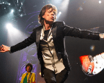Mick Jagger of the Rolling Stones performs.