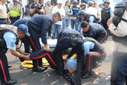 Two police officers were killed during a protest in San Cristobal, Tachira, Venezuela, March 29, 2016.