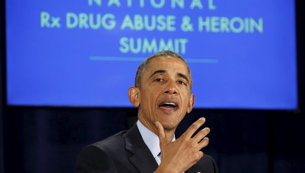 U.S. President Barack Obama participates in a National Drug Abuse and Heroin Summit in Atlanta, Georgia March 29, 2016.