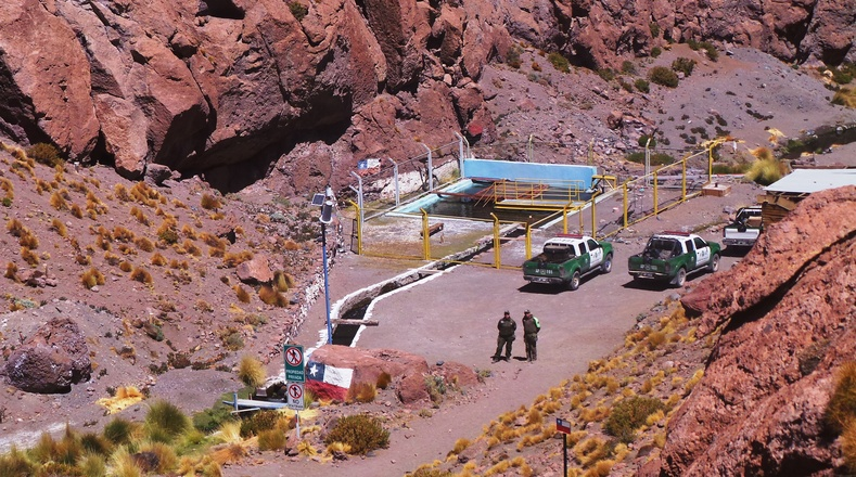 Bolivia has accused Chile of stealing its water from Silala via artifical channels.