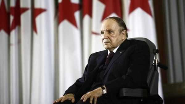 President Abdelaziz Bouteflika looks on during a swearing-in ceremony in Algiers.