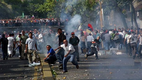 On April 11, 2002 the Venezuelan right, with the help of media power, created a tense situation to pit Venezuelans against each other, leading to a coup for 48 hours against President Hugo Chavez.