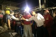 President Correa in the coastal city of Manta .