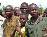 A group of former child soldiers in the Democratic Republic of Congo.