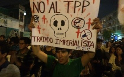 Marcha against TPP in Peru