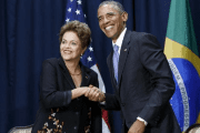 U.S. President Barack Obama shakes hands with Brazil's President Dilma Rousseff at the Summit of the Americas in Panama City, Panama April 11, 2015.