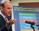 Attorney General Eric Schneiderman speaks at a news conference earlier this month.