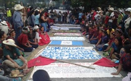 The march for water started on Monday 11 and will close on Friday 22 in the Guatemalan capital.