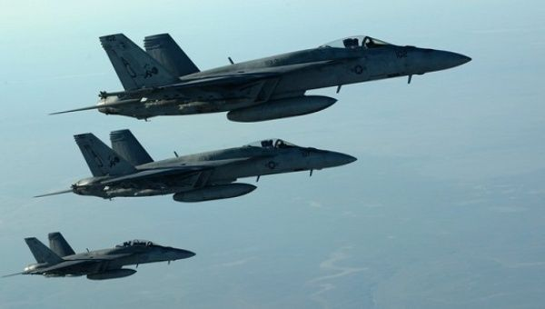 U.S. fighter jets fly over northern Iraq.