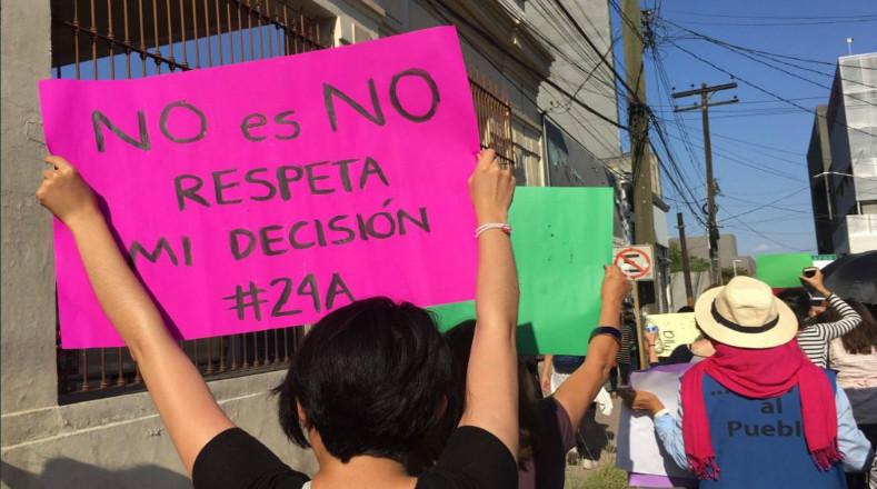 Movilización Nacional contra las Violencias Machistas en Matamoros, Nuevo León.