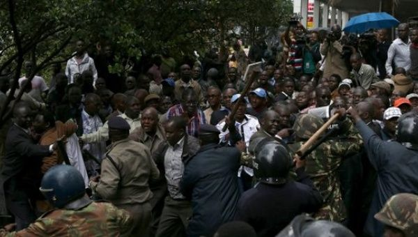 Kenyan Police Attack Opposition Protests Against Electoral