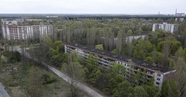 A view of the abandoned city of Pripyat is seen near the Chernobyl nuclear power plant in Ukraine April 22, 2016.