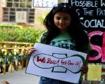 Nikita Azad said she launched the #HappyToBleed campaign to protest the remarks made by the head of Sabarimala temple, in Kerala, India.