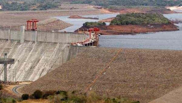 Venzuela's Guri dam and hydroelectric power station at Bolivar, pictured in 2010 when drought affected reservoirs serving the plant.