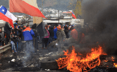 Residents of Chiloe blocked nine main roads with barricades to the archipelago's largest island.