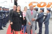 Venezuelan Vice President Aristobulo Isturiz lands in South Africa's capital Johannesburg.