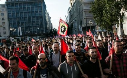 Greek trade unions opposed to tax and pension reforms are set to keep up the pressure with a third day of a general strike that has paralysed public transport across the country