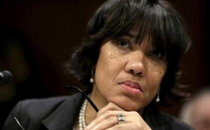 Flint, Michigan Mayor Karen Weaver awaits to testify before the House Democratic Steering and Policy Committee on the Flint lead water crisis in Washington February 10, 2016.