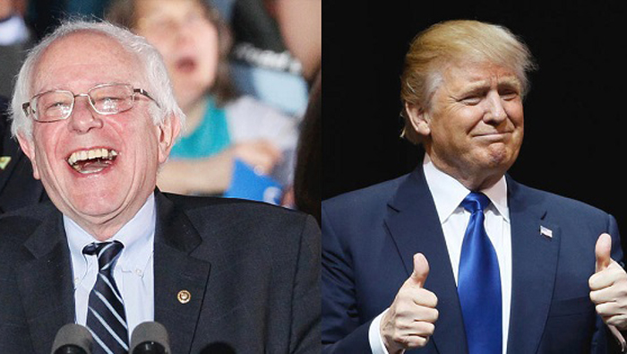 Sanders y Trump conquistaron el estado montañoso de Virginia Occidental.