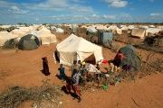 Refugees at the Dadaab refugee camp, near the Kenya-Somalia border, Kenya.