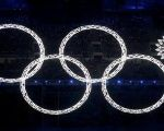 Olympic Rings during the opening ceremony of the 2014 Sochi Winter Olympics, February 7, 2014.