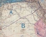 Sykes - Picot line Britain and France drew to create Syria and Iraq.