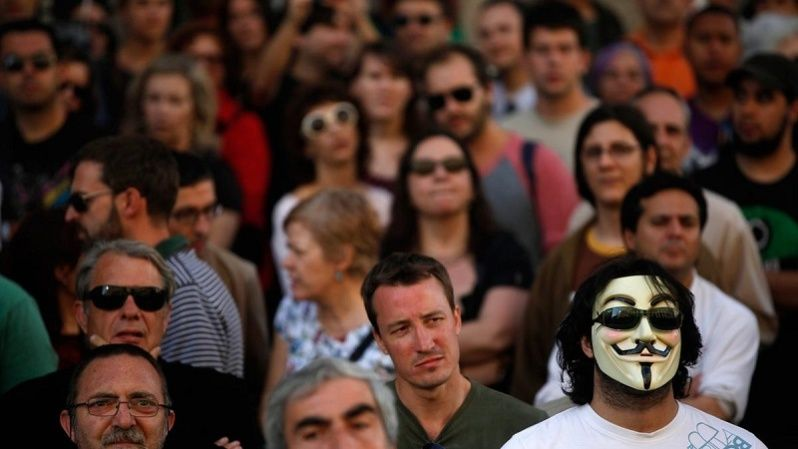 Spaniards have come out in numbers against proposed austerity cuts by the right-wing government of Mariano Rajoy.
