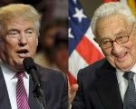 U.S. Republican presidential candidate Donald Trump and Secretary of State Henry Kissinger.