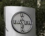 Bayer logo at the headquarters building in Caracas March 1, 2016.