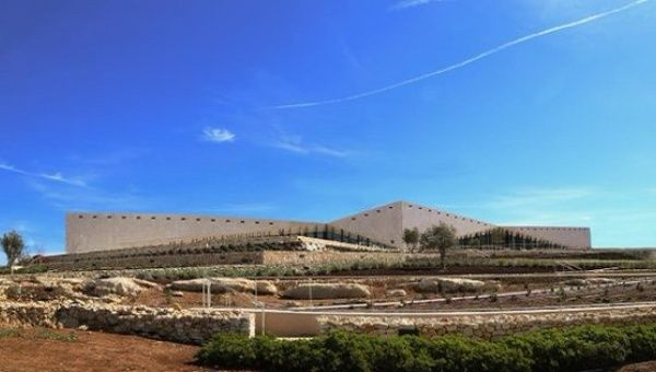 The recently built Palestine museum in Birzeit in the occupied territories.