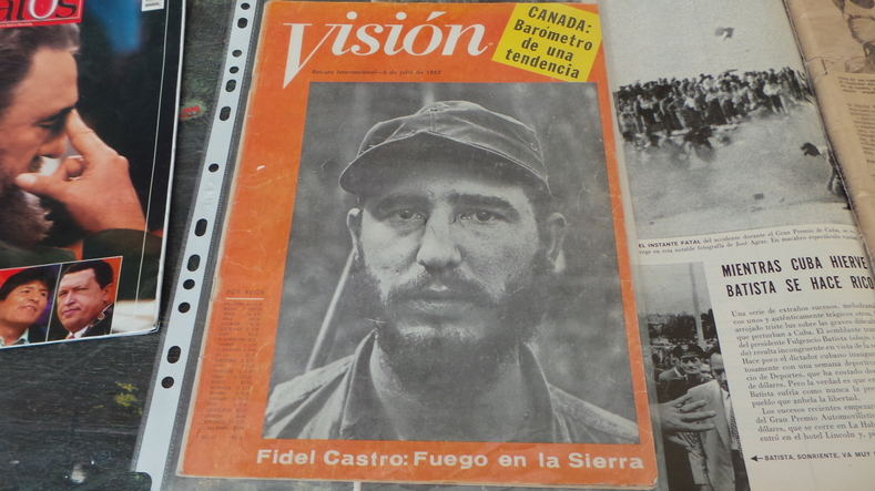 The early days of the Cuban revolution led by Fidel Castro was front page news in South America.